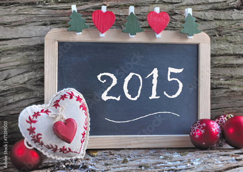 canvas print picture Slate for new year 2015