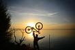 bisiklet sevgisi ve gündoğumu