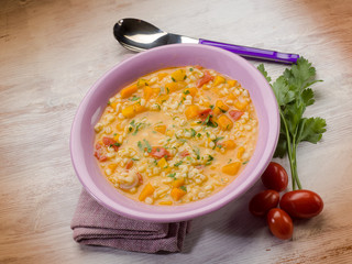 pumpkin soup with barley
