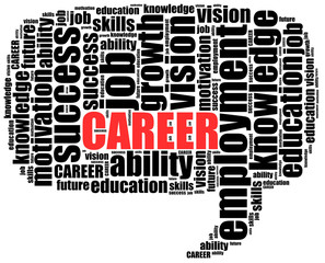 Word cloud illustration related to career or employment