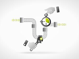 Internet speed concept illustration