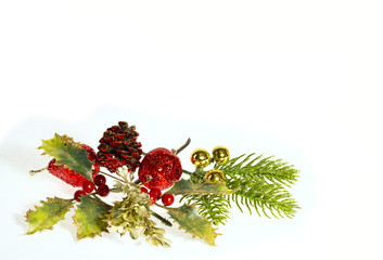 Decorations for Christmas and New Year holidays.
