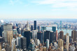 canvas print picture - Cityscape view of Manhattan from Empire State Building