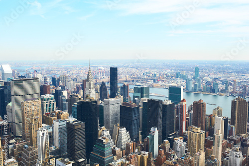 canvas print picture Cityscape view of Manhattan from Empire State Building