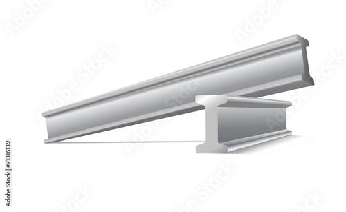metalowa konstrukcja belki wektor na białym tle