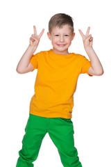 Joyful little boy