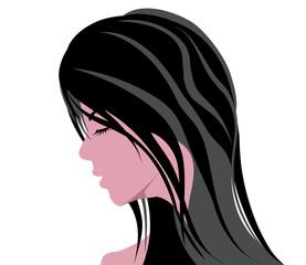 beautiful woman head vector illustration