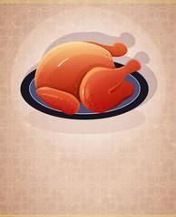 Crispy skin roasted chicken