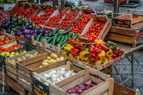Keuken foto achterwand Boodschappen regionaler Gemüsemarkt