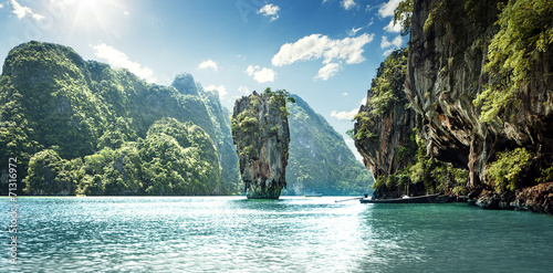 Foto Spatwand Eilanden James Bond Island