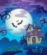Haunted house theme background