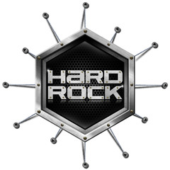 Hard Rock - Metallic Hexagon