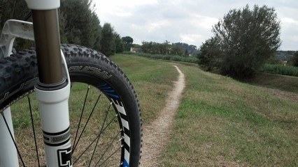 Mountain bike in campagna