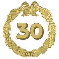 goldener Jubiläumskranz - 30