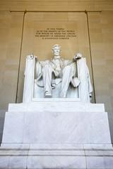 Abraham Lincoln statue, Lincoln memorial, Washington.