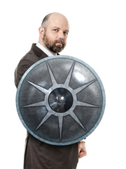 business man shield