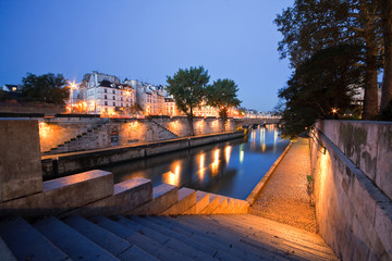 Seine in Paris near Notre Dame, France.