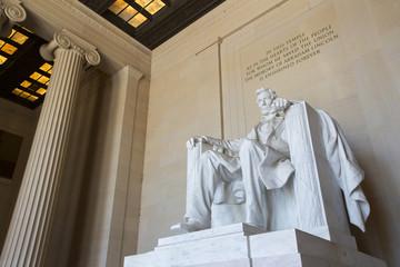 Abraham Lincoln statue, Lincoln memorial in Washington.