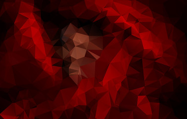 Abstract Red Triangle Background, Vector