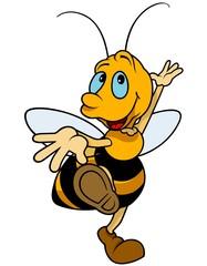 Dancing Bumblebee - Colored Cartoon Illustration
