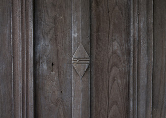 Close up Old wooden door background