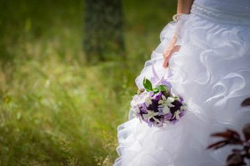 Bridal Wedding Bouquet outdoors