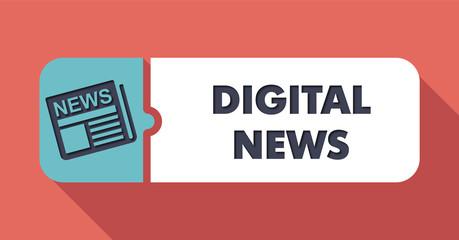 Digital News on Scarlet in Flat Design.