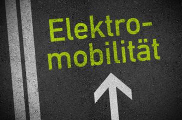 Asphalt mit Elektromobilität