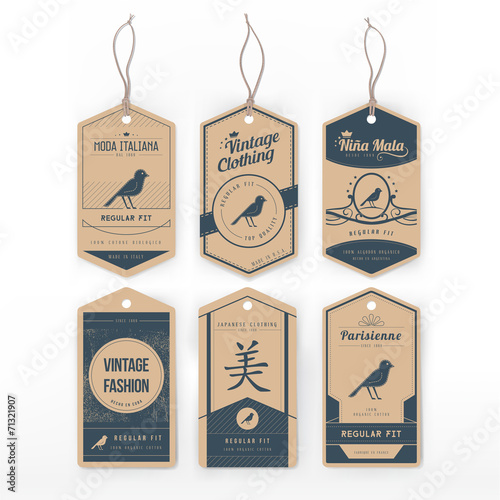 Vintage clothing tags - 71321907