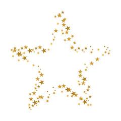 Stern mit goldenen Sternenrahmen