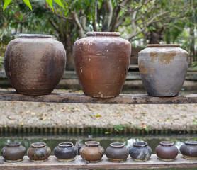 many jars for gardening