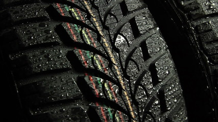 wet tire slider shot