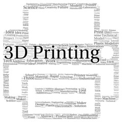 3D printing word cloud shape