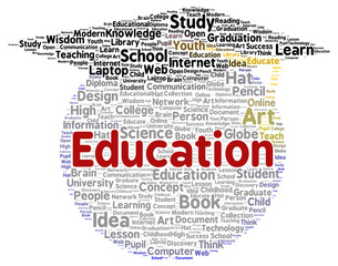 Education word cloud shape