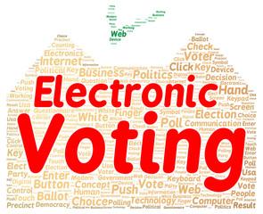 Electronic voting word cloud shape