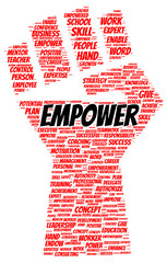 Empower word cloud shape