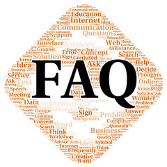 FAQ word cloud shape
