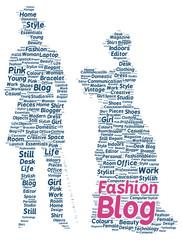 Fashion blog word cloud shape