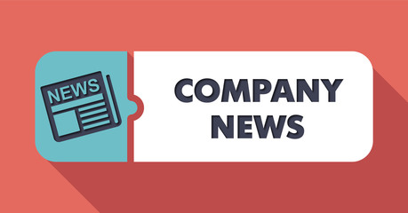 Company News on Scarlet in Flat Design.