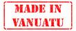 Постер, плакат: Made in Vanuatu on Red Stamp