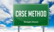 Case Method on Highway Signpost.