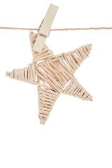 hanged wooden star