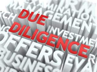 Due Diligence - Wordcloud Concept.