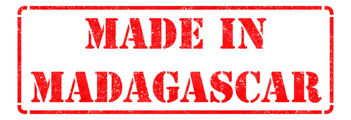Made in Madagascar on Red Stamp.