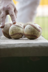 Baseball mit Hand