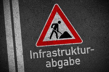 Asphalt mit Infrastrukturabgabe