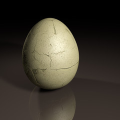 3d cracked egg