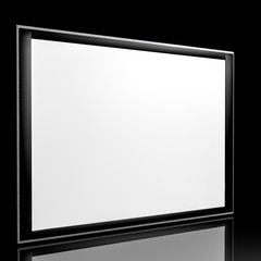 3d tablet device with its reflection