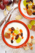 Muhallabia - Middle Eastern rice pudding with dried fruits