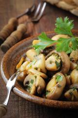 Sauteed champignon mushrooms
